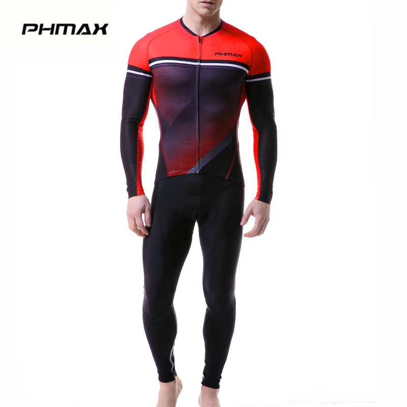 PHMAX 2019 Long Sleeve Cycling Jersey Set MTB Bicycle Clothing Maillot Ropa De Ciclismo Racing Bike