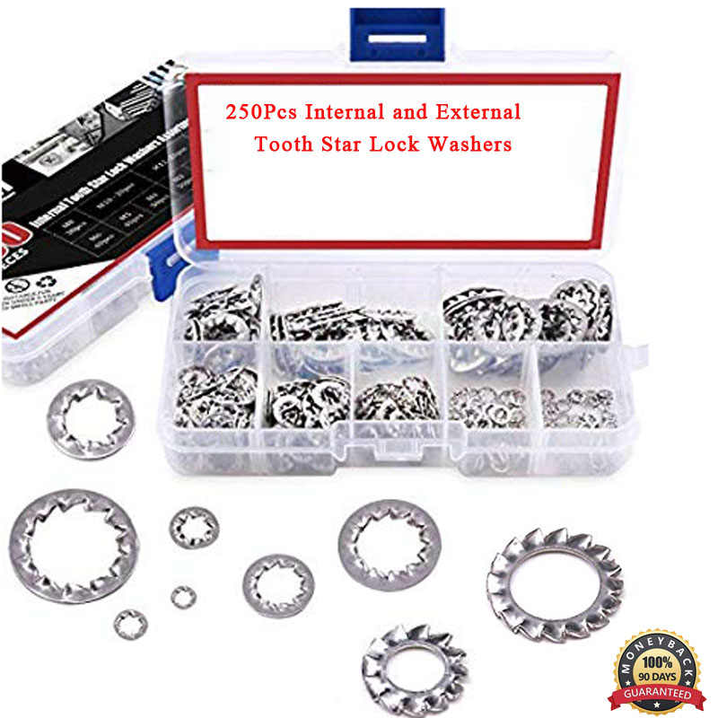 M10 304 Stainless Steel External Star Lock Washers 25 Pcs