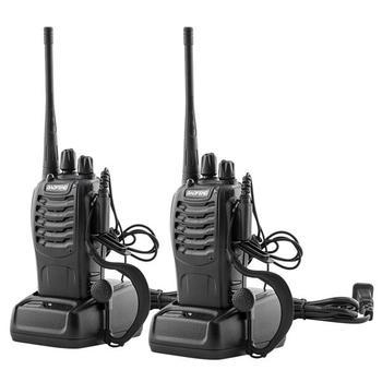 цена на SOONHUA BF-888S 2pcs Walkie Talkie 5W 400-470MHz Walkie Talkie Handheld Walkie Talkies With Antennas And Earphone
