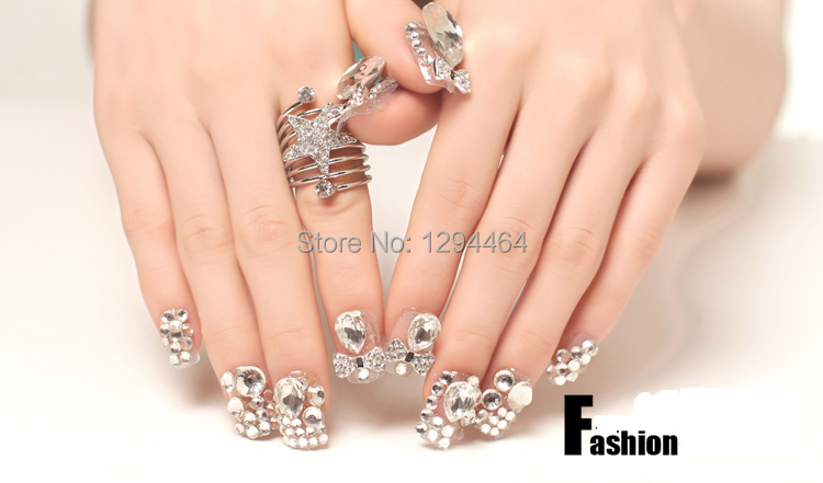Gift Set Upscale Luxury Full Diamond Pearl Glitter For Nail Wedding Bride Piece Patch Free Shipping In False Nails From Beauty Health On