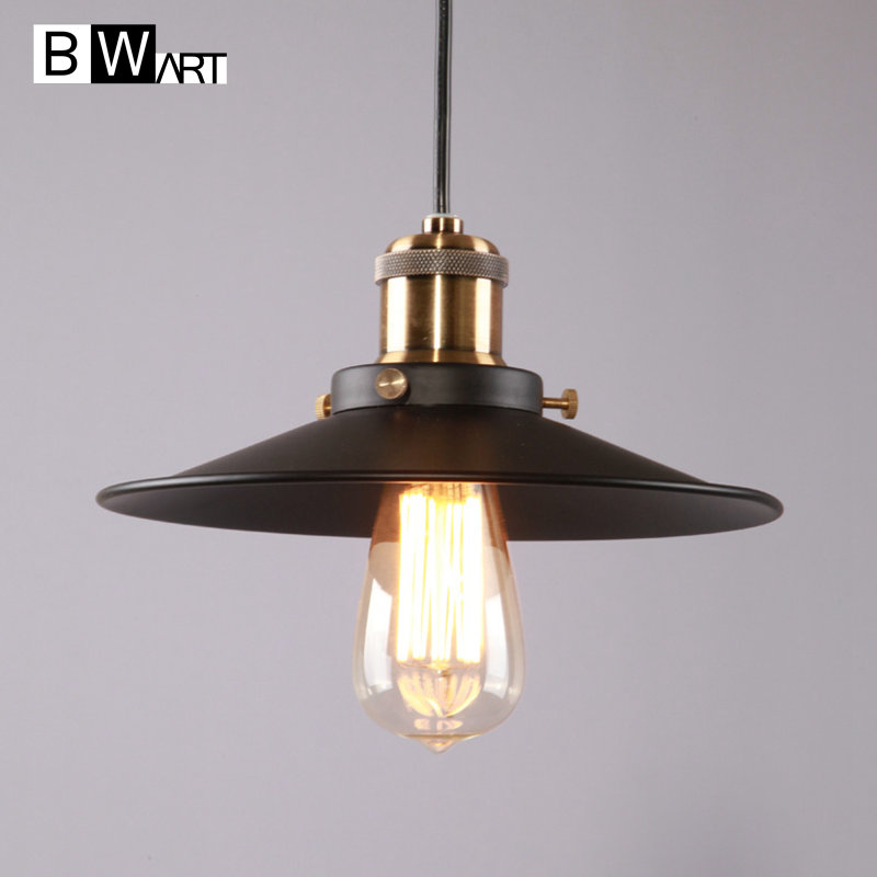 BWART Pendant Lights Vintage Industrial Retro Pendant Lamps Dining Room Lamp Restaurant Bar Counter Attic Lighting E27 Holder