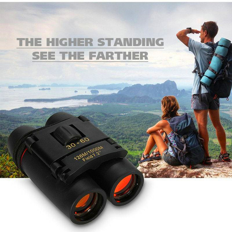 Image 5 - Outdoor Tourism Travel night vision Wide angle eyepiece professional Telescope Folding Binoculars with Low Light Night Vision-in Riflescopes from Sports & Entertainment