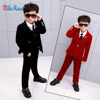 5PCS Kids formal Suits for boys blazers children tuxedo clothes baby boy suit set birthday outfits costume enfant garcon mariage