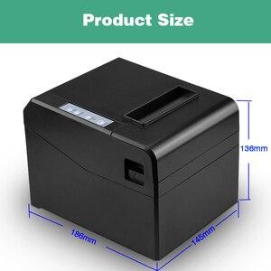 "Image 5 - 80mm קופה ברקוד קבלת הצעת חוק תרמית מדפסת wih במהירות גבוהה עבור 300 מ""מ\שנייה עם USB LAN bluetooth להשתמש עבור מטבח עם חותך אוטומטי"