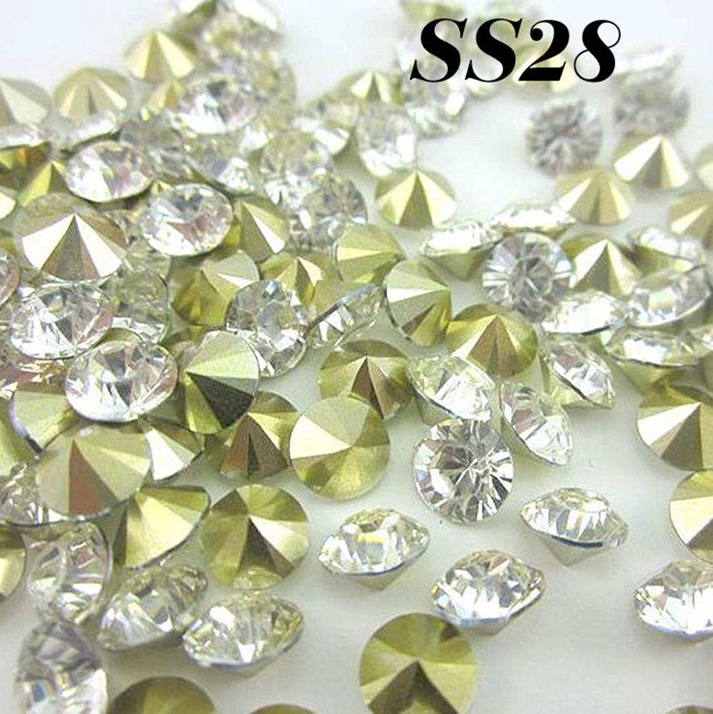 1g Resin Rhinestones Pointback,resin Stones Pointed Back For Diy Decoration Moderate Price Free Shipping Ss28 6.0-6.2mm Crystal/clear 144pcs