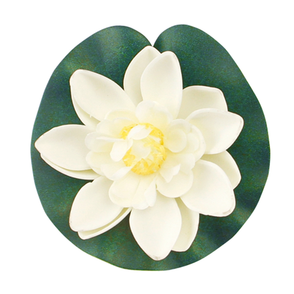 Floating water lily artificial flower green lily pad pond water floating water lily artificial flower green lily pad pond water landscaping pool flower ornments in artificial dried flowers from home garden on izmirmasajfo Images