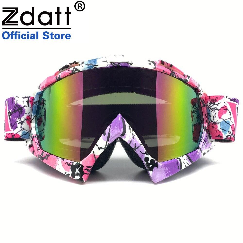 Zdatt Bendable Windproof Eyewear Protective Glasses Ski Goggles Snow Skiing Snowboarding Motocross Goggles Dustproof Glasses