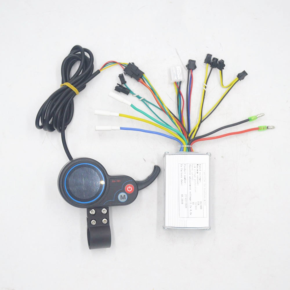 250W/350W 36V 48V Ebike Electric Scooter Controller With Throttle LCD Display Speed For BLDC Motor/scooter/e Bike