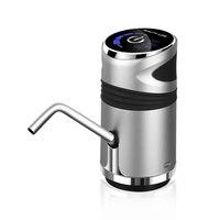 Bomba de água elétrica automática botão dispensador galão garrafa beber interruptor para dispositivo de bombeamento de água prata cinza