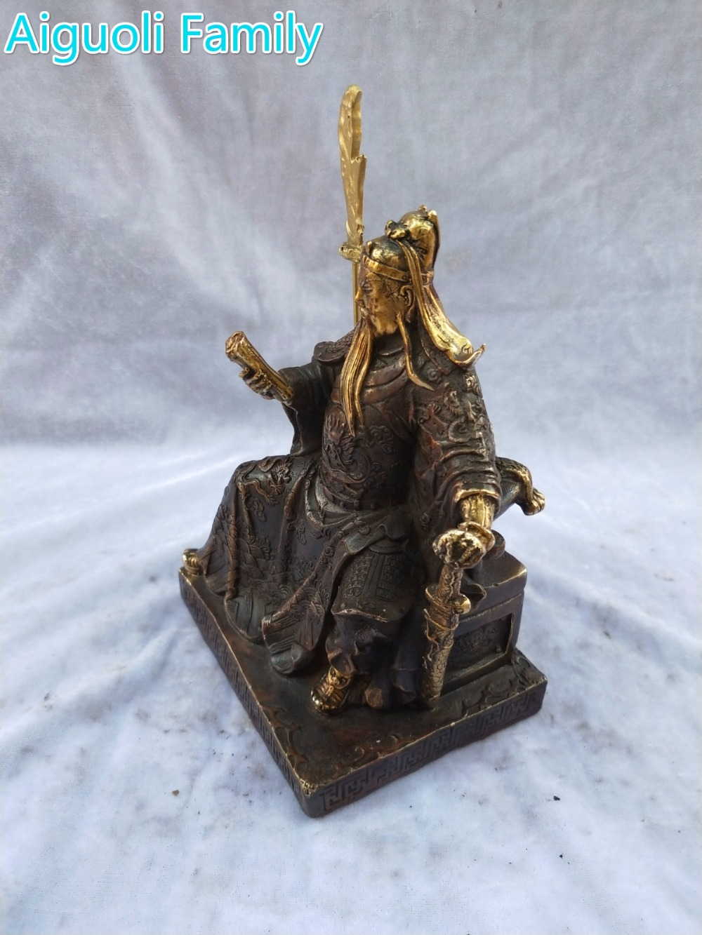 Home Decoration Sculpture/Art Collection Metal Crafts,Chinese Old Bronze Gilt Gugong Statue Home Decoration Sculpture/Art Collection Metal Crafts,Chinese Old Bronze Gilt Gugong Statue