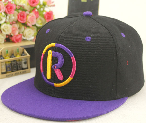 3578f707186 customize plain embroidery colorful R letter snapback hats black cotton snapback  caps embroidery logo snapback-in Baseball Caps from Apparel Accessories on  ...