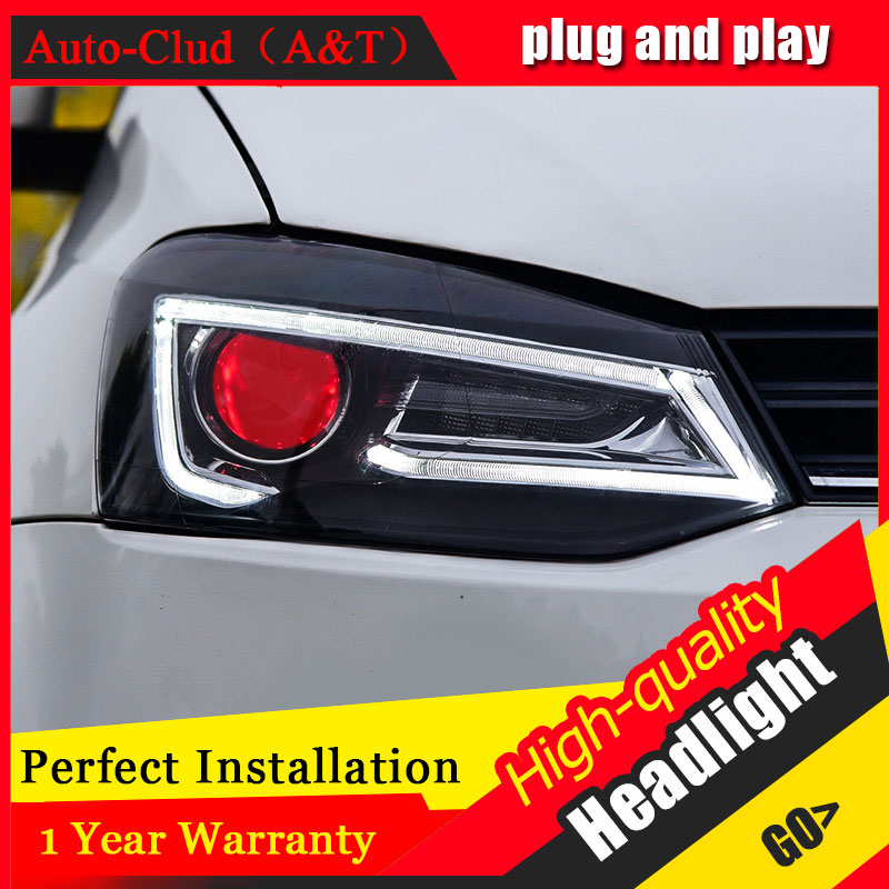 Auto Clud Car Styling For VW POLO Headlights 2011 2016 For Polo Head Lamp Front Bi