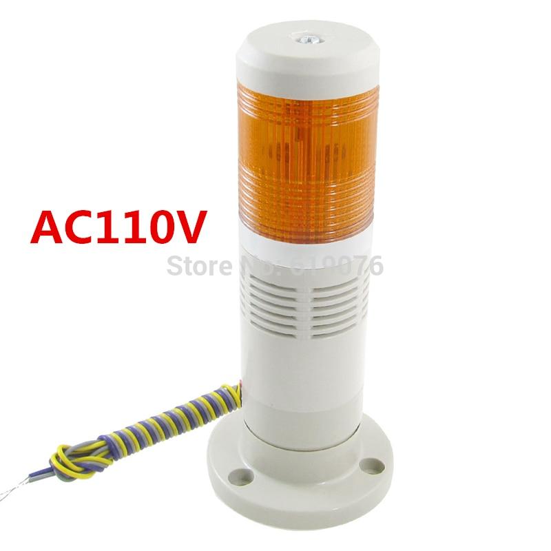 Haben Sie Einen Fragenden Verstand Ac110v Industrie Gelb Signal Turm Alarm Warnung Licht Mit Summer Alarm Gerät üBerlegene Leistung Licht & Beleuchtung