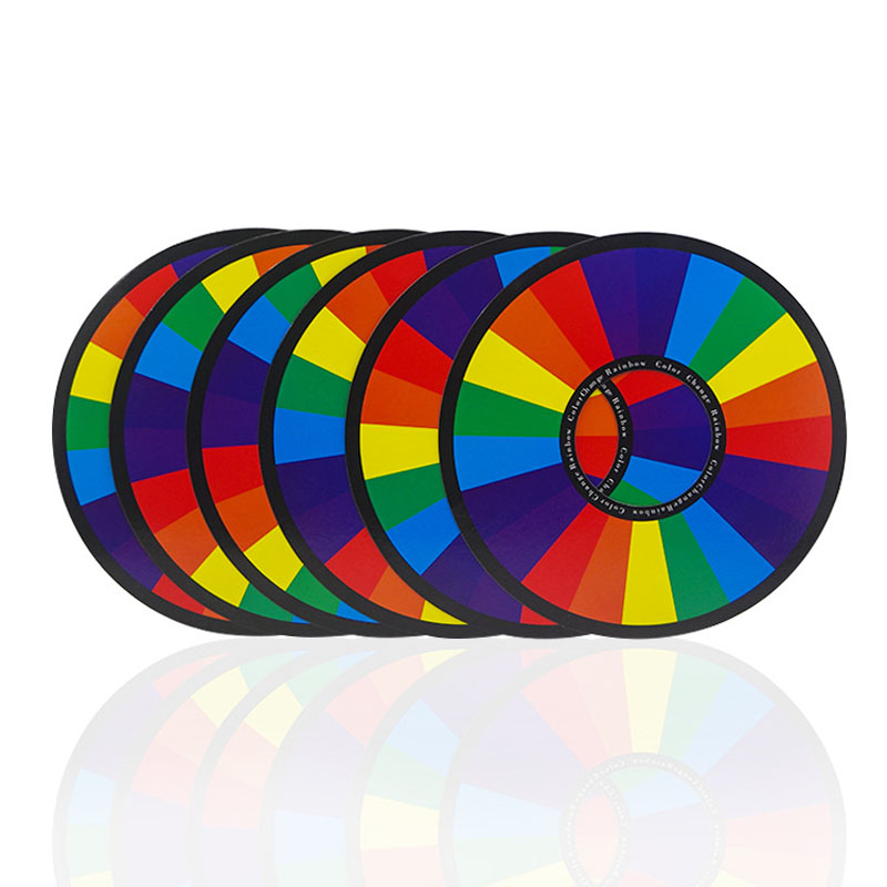 6pcs Rainbow Rings Magic Tricks Color Changing Ring Magia Magician Stage Accessories Illusion Props Gimmick Comedy Kids Magic image