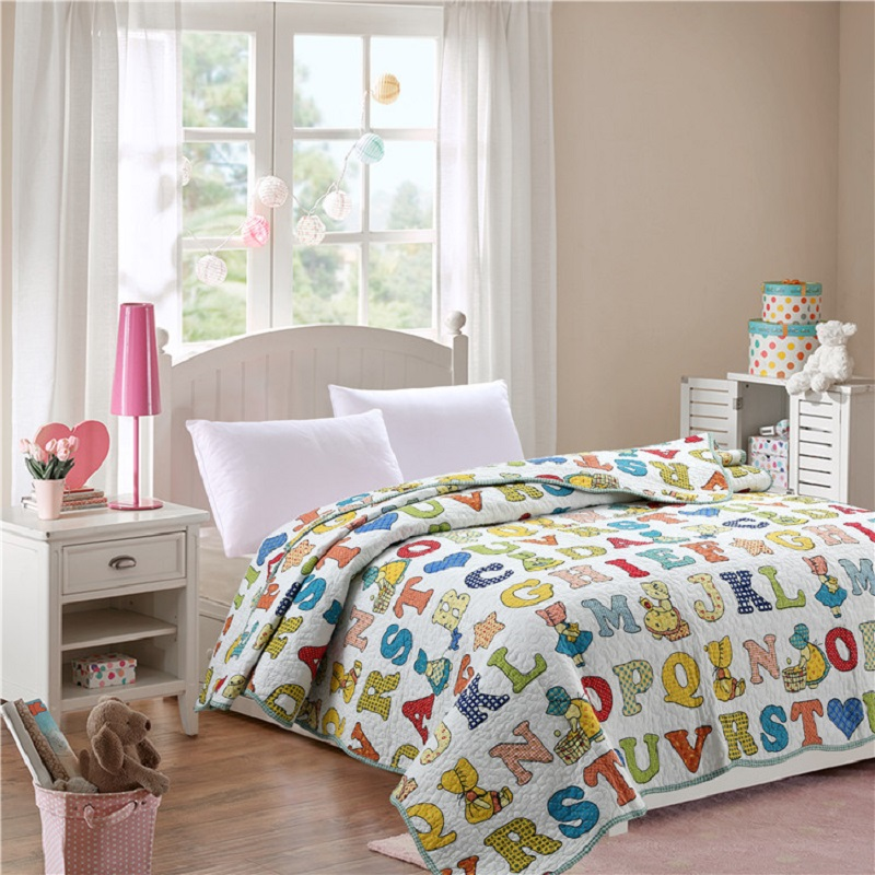 Summer Coverlet SOFT 100% Cotton Quilt 1 piece Twin Size Student Quilts <font><b>Sofa</b></font> Blanket Bed Cover Kids Bedding Free Shipping