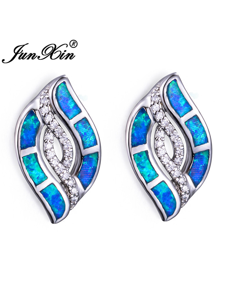 Blue Opal Earrings
