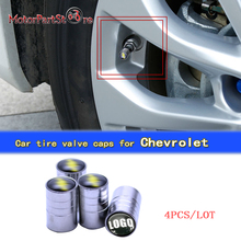 цена на Car-stying Car Wheel Tire Valves Tyre Stem Air Caps Cover Case for Chevrolet