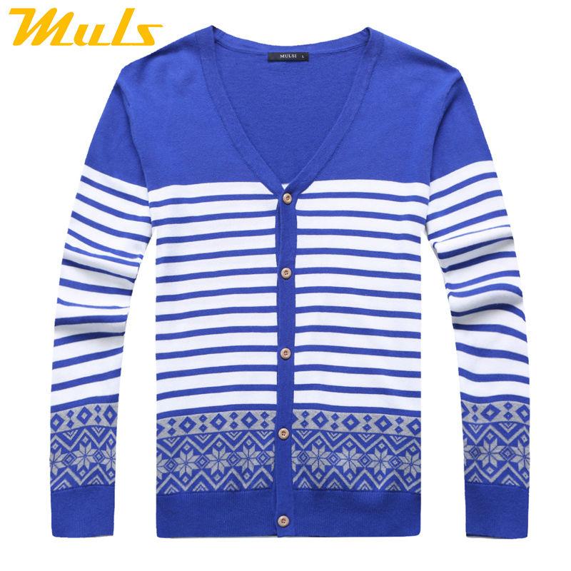 Knitted Cardigan Men Muls Brand Full Sleeve Jersey Hombre Sweater V