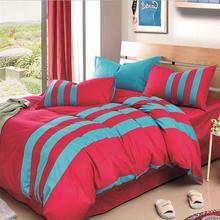 Estilo deportivo de Algodón 4 unids Beding Conjuntos de Ropa de Cama ropa de Cama Edredón de Color de los Cordones de Alta Calidad Decoración Del Hogar Textil