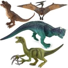 Jurassic Tyrannosaurus Pterosaur Carnotaurus Dinosaurs Models Plastic Therizinosaurus Animal Action Figures Collection font b Toys b
