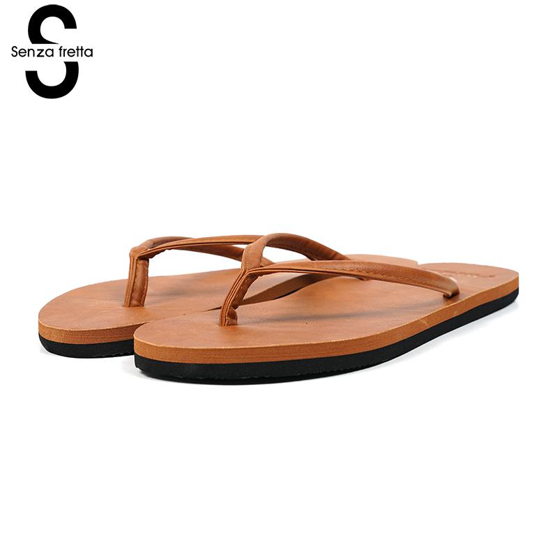 Senza Fretta Summer Men Flip Flops Sandals Eva Slipper Anti-slip Flat Flip Flops Casual Slipper Summer Fashion Beach Flip Flops senza fretta non slip flip flops men slippers flip flops men sandals casual summer flip flops breathable beach shoes sandals