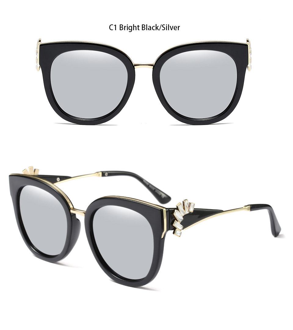 HTB1L4NSf50TMKJjSZFNq6y 1FXae - Oversized Crystal Acetate Black Cat Eye Sunglasses 2018