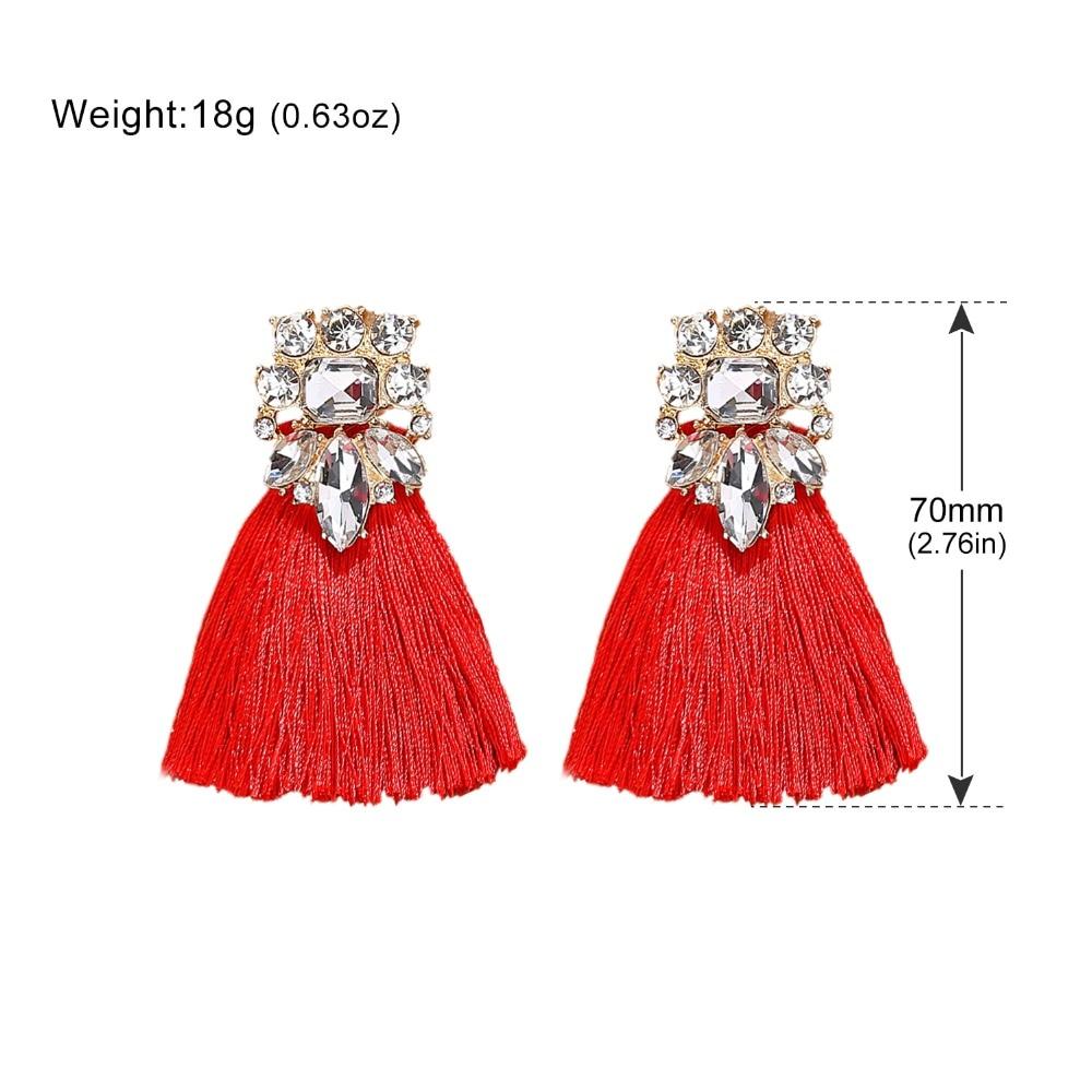 Minmin Vintage Bohemian Long Drop Tassel Earrings for Women Statement Ethnic Fringe Dangle Earrings Fashion Jewelry 2019 EH1488 in Drop Earrings from Jewelry Accessories