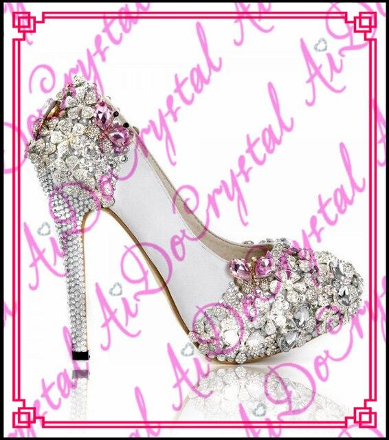 Glitter Da Di Sera Sposa 2016 Bianco Aidocrystal Scarpe wPZ5Uqxt