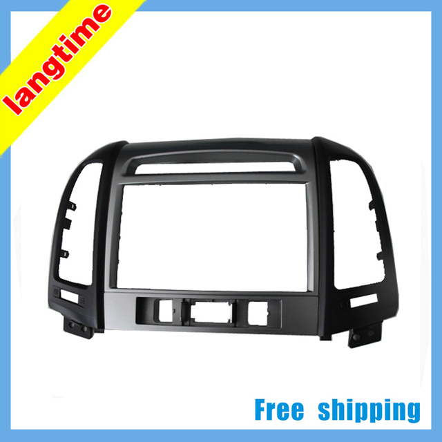 Free shipping-Car refitting DVD frame,DVD panel,Dash Kit,Fascia,Radio Frame,Audio frame for 2011HYUNDAI Santafe(commen),2DIN
