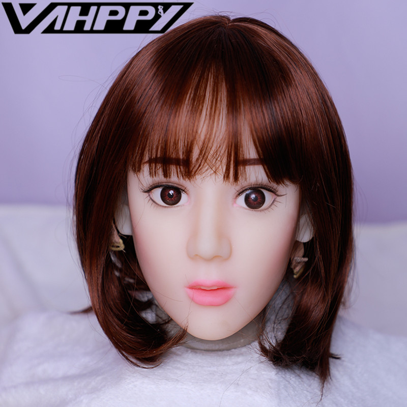13cm depth Silicone sex doll Head TPE Oral Sucking Sex Doll Accessories for 100-140cm Love dolls sextoy for men male masturbator13cm depth Silicone sex doll Head TPE Oral Sucking Sex Doll Accessories for 100-140cm Love dolls sextoy for men male masturbator
