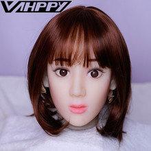 13cm depth Silicone sex doll Head TPE Oral Sucking Sex Doll Accessories for 100-140cm Love dolls sextoy men male masturbator