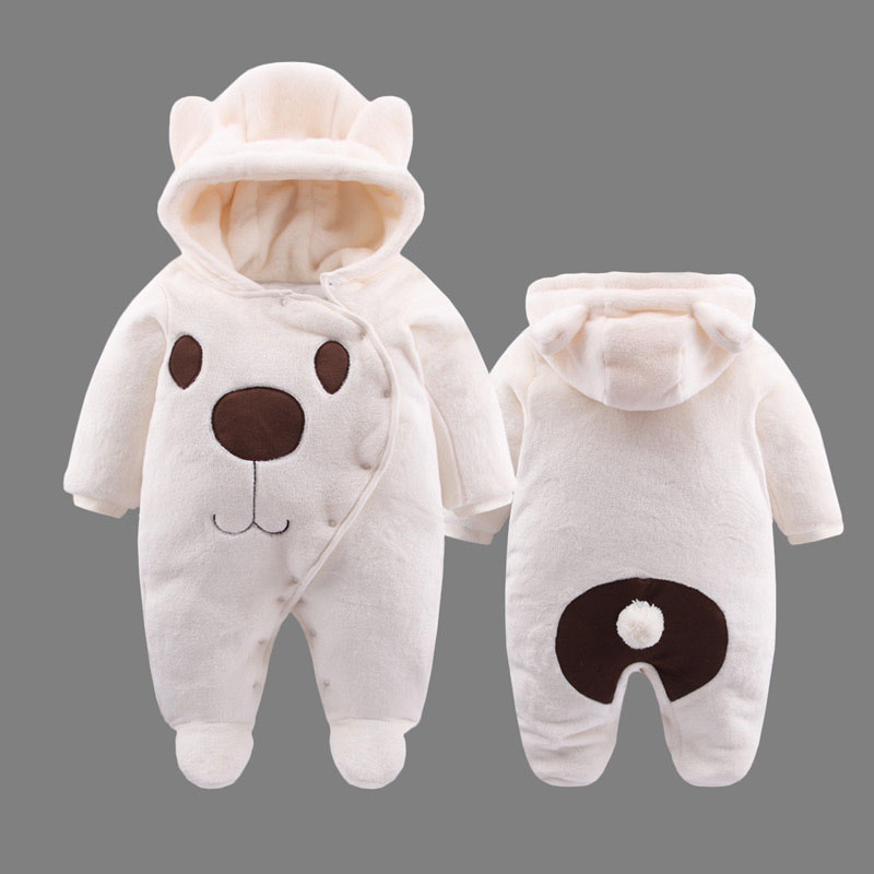 Baby Girl Romper Winter Baby Warm Clothes Thickened Romper Newborn Clothing Baby Animal Rompers Bear Boy Romper Winter Clothes cartoon baby rompers costumes fleece newborn baby girl boy clothes winter overalls roupa bebes animal next clothing warm clothes