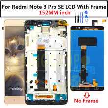 "152 Mm Voor 5.5 ""Xiaomi Redmi Note 3 Pro Se Lcd Touch Screen Digitizer Vergadering + Frame Redmi opmerking 3 Speciale Editie Lcd"