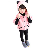 Autumn Winter Girl Jacket Hooded Children Clothing Infantil Outerwear Manteau Fille Poncho Kids Clothes Casaco Casual