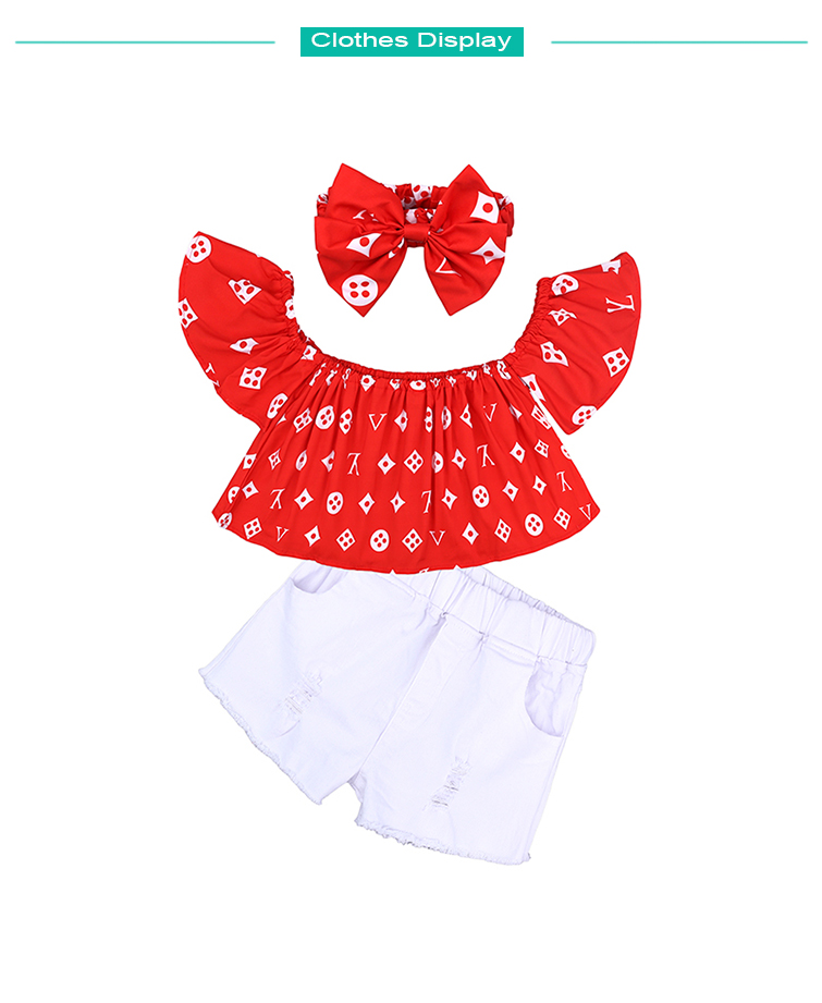 Children Sets for Girls Fashion 19 New Style Girls Suits for Children Girls T-shirt + Pants + Headband 3pcs. Suit ST307 163