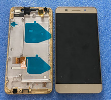 LCD screen display+touch panel digitizer with frame For Huawei Honor 4X black or gold  free shipping
