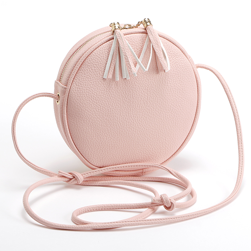 Jiessie Angela New Women Handbag Casual Bolsa Feminina Ladys Round Candy Color Small Bag Handbags Famous Brands Vintage Bags in Top Handle Bags from Luggage Bags