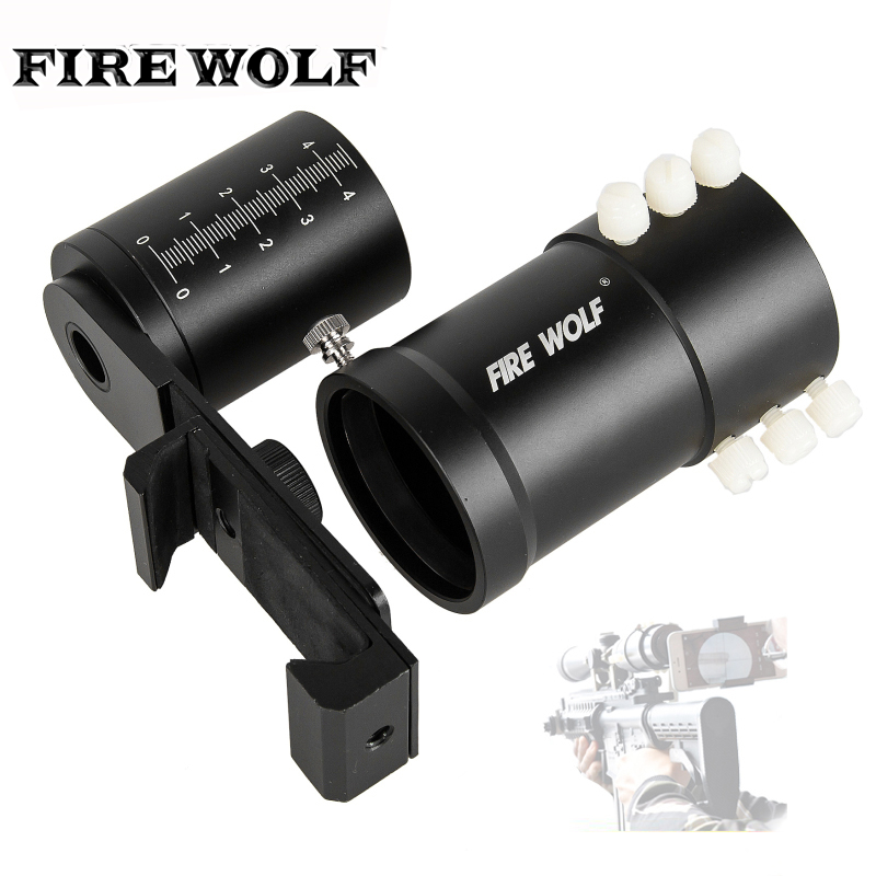 FIRE WOLF Rifle Scope Smartphone Mount System Adapter For Phone Camera Mount TO Talke Photos scope camera mount for rifle scope gun scope airgun scope for compact camera casio sony canon nikon fujifilm