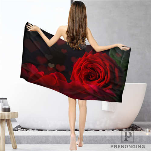 Custom Rose (1) Bathroom Washcloth Towels Face TowelBath Towel Shower Towels Size 33x74cm72x143cm#18-12-16-02-175