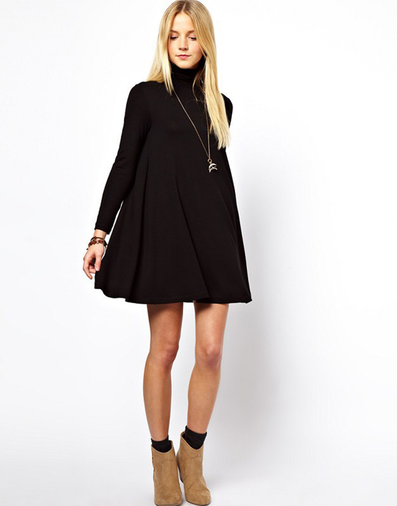 Compare Prices on Black Swing Dress- Online Shopping/Buy Low Price ...