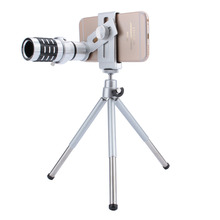 Cheap price NEW 3 color Camera Lens 12X Zoom Telephoto Phone Optical Lens Camera Telescope Lens + Mount Tripod For iPhone Samsung All phone
