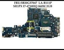 高品質 FRU: レノボ Ideapad 5B20G57047 Y50 70 ノートパソコンのマザーボード ZIVY2 LA B111P SR1PX I7 4710HQ HM87 860 メートル 2 ギガバイトテスト
