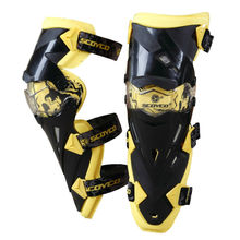 Genouillère Authentique Moto protéger Genou Protecteur Motocross Racing Garde Tapis De Protection Scoyco K12 motocicleta motos Jaune