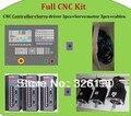 Kit CNC ---- 3 eixos de fresagem CNC controlador + servo motorista 3 pcs + 1.2kw servo motor 1 pc + 0.8kw serv motor 2 pcs
