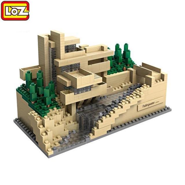 Berühmte Architektur 811 stücke loz modellbau kits berühmte architektur fallen wasser