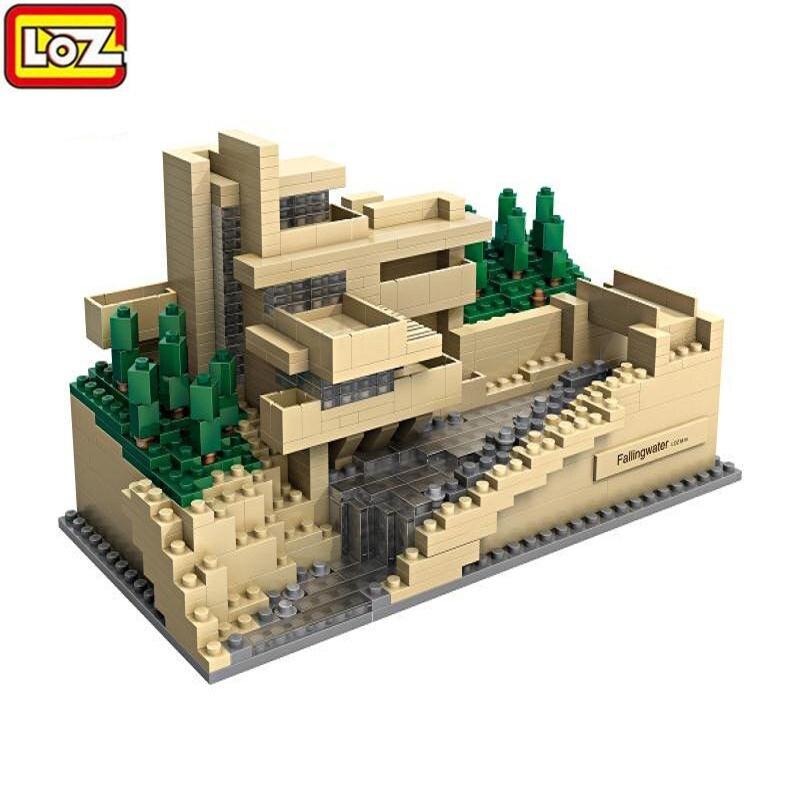 811PCS LOZ Model Building Kits Famous Architectures