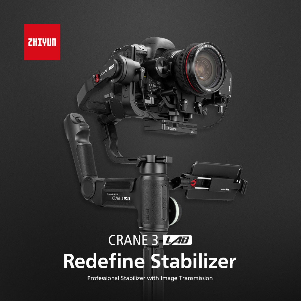 Zhiyun Crane 3 Lab 3 Axis Gimbal Handheld Stabilizer for DSLR Sony A7M3 Canon 5D MARK