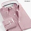SmartFive Новый Стиль мужские Рубашки Оксфорд Случайные Люди Рубашка С Длинным Рукавом в Полоску Camisa Masculina 5XL 6XL Импортные Одежда