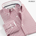 SmartFive New Style Men's  Shirts Oxford Casual Men Shirt Long Sleeve Striped Camisa Masculina 5XL 6XL Imported Clothing