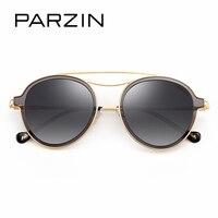 PARZIN Brand Designer Round Frame Sunglasses TR90 Vintage Unisex Polarized Glasses For Driver Coating Mirror Glasses